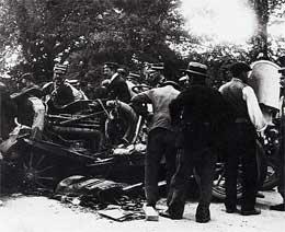 La scène de l'accident de Boy Capel