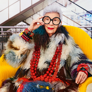 qui est iris apfel ic ne de ds et du bon march en voiture carine en voiture carine. Black Bedroom Furniture Sets. Home Design Ideas